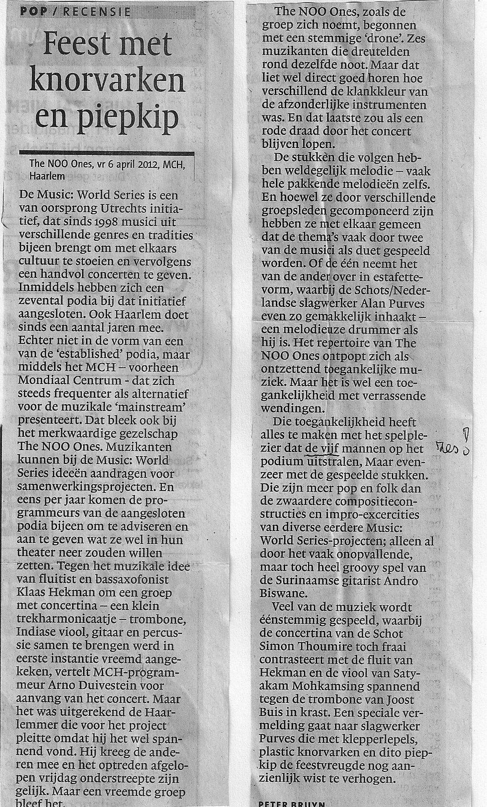 Recensie Haarlems dagblad