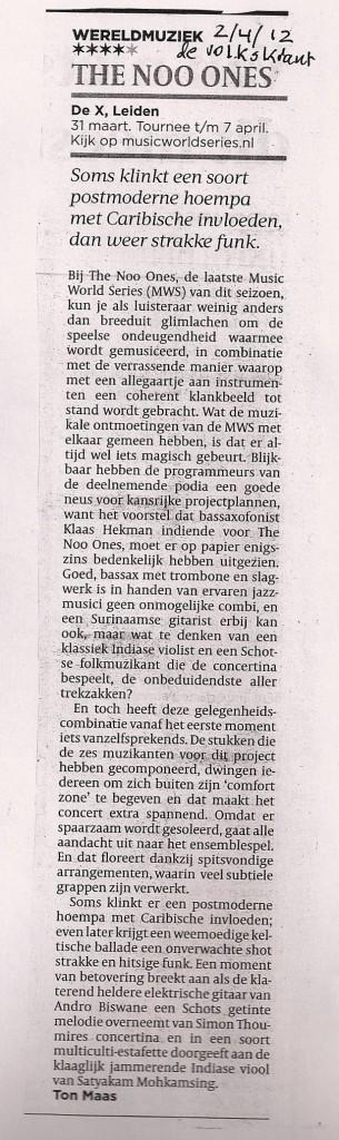 Recensie Volkskrant